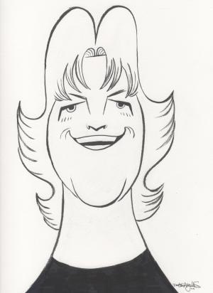 Caricature of Vickie Scott by Ricardo de los Angeles